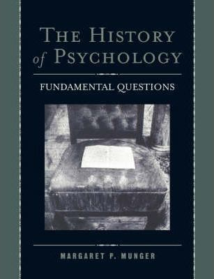 Image of The History Of Psychology : Fundamental Questions
