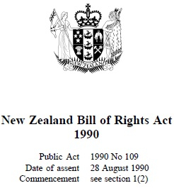 New Zealand Bill Of Rights Act 1990 : Reprint As Of 1 July 2013
